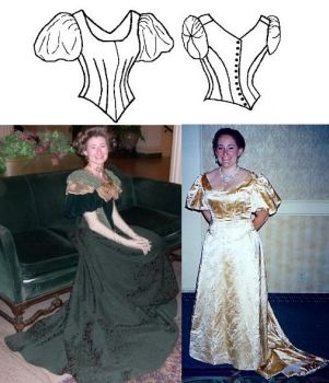 Patterns Of Time 1892 Ball Gown Bodice Pattern By Truly