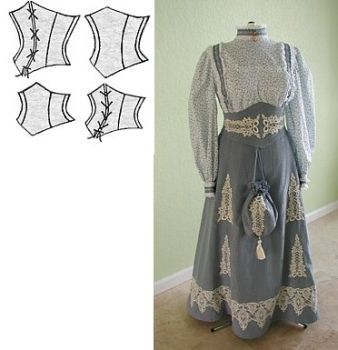 1890's Victorian Corselets Pattern