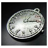 Silver Plated Steampunk Victorian Clock Pendant Embellishment