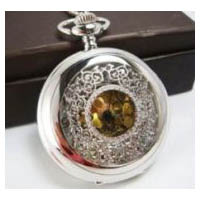Beautiful Silver Finish Victorian Style Steampunk Pocket Watch Pendant