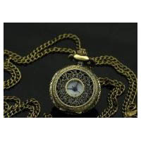 Small European Style Antique Brass Finish Victorian Steampunk Pocket Watch