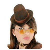 Little Victorian Top Hat - Brown