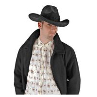 The Gambler � Black Ultra-Suede Cowboy Hat
