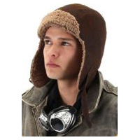 Steampunk Lined Brown Aviator Hat
