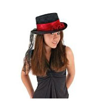 Gothic Rose Victorian � Goth - Steampunk Top Hat