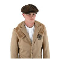 Steampunk Brown Suede Driver's Cap