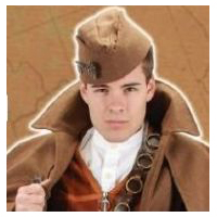 Steampunk Naval Officer Hat - Brown
