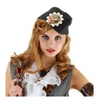 Steampunk Naval Officer Hat - Grey