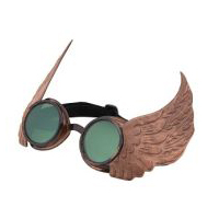 Steampunk Winged Goggles - Gold