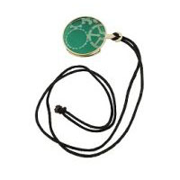 Steampunk Gold Monocle- Green Glass