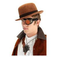 Steampunk Cybersteam Eyepatch - Gold &  Orange