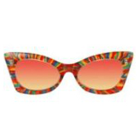 Cheetah Rainbow Pink & Yellow Glasses