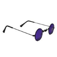 Nighstalker Vampire Glasses - Black with Purple Lenses