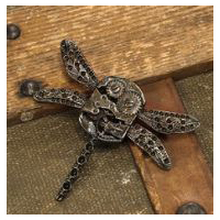 Steampunk Dragonfly Gear Pin