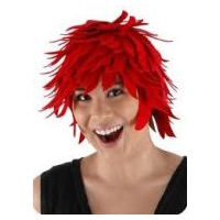 Anime Fireball � Fiery Red Felt Wig