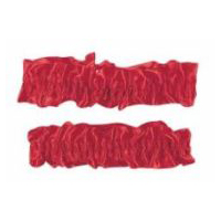 Roaring 20's � Wild West - Victorian Garters Armbands � Red Satin