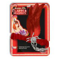 Charleston Flapper Headpiece with �Diamond� Accents - Red