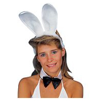 Plush Bunny Ears - White Headband by Rubies Costume