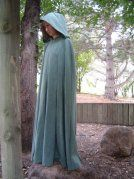 Green Heavy Twill Cloak with Green Satin Lining