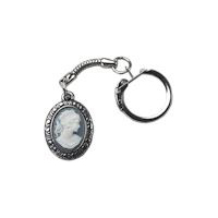 Small Cameo Pewter Key Ring