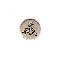 "Celtic Triangle Button - Silver Finish. 5/8"" (16mm) Button."