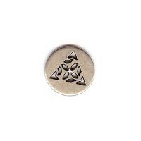 Celtic Triangle Button - Silver Finish