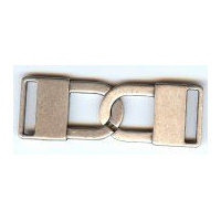 Two Locks intertwined in an Antique Silver Finish Cloak Clasp / Buckle