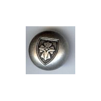"Coat of Arms Button, Antique Silver Finish 5/8"" (15mm)"