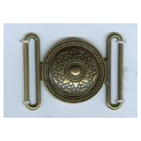 Ottoman Shield Antique Brass Finish Clasp - Buckle