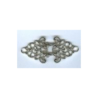 Ornate Shiny Silver/Nickel Finish Trivet Cloak Clasp