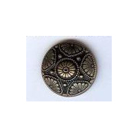 "Ornate Persian Button. Antique Brass Finish 7/8"" (23mm)"