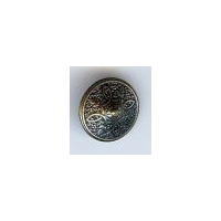 "Persian Shield Button, Antique Brass Finish. Size 5/8"" (15mm)"