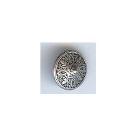 "Persian Shield Button, Antique Silver Finish. Size 5/8"" (15mm)"