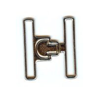 "Latching Buckle Clasp in Shiny Silver Finish. Size 2"" X 2"""
