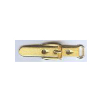"Belt and Buckle Cloak Clasp/Buckle in Matte Gold finish. Size 3"" X .75"""
