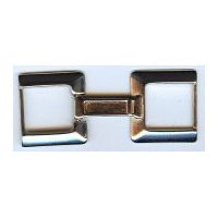 Connected buckles clasp in Bright Nickel Finish
