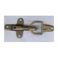 Over-Latch Clasp Closure in Antique Brass Finish