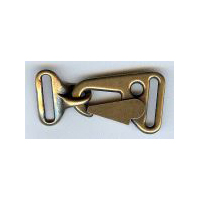 Latch Hook Clasp Closure in Antique Brass Finish