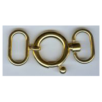 Necklace Latch Clasp in Gold Finish