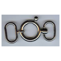 Necklace Latch Clasp in Nickel-Silver Finish or Dark Gunmetal Finish