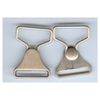 Overalls Latch Clasp Closure in Antique Silver Finish