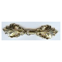 Graceful Fleur de Lis clasp in Gold
