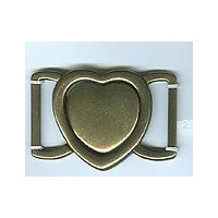 Interlocking Heart Clasp - Antique Bronze Finish