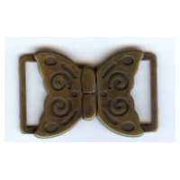 Butterfly Clasp - Antique Bronze Finish