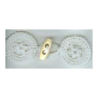 Natural Crochet Frog with Wooden Latch