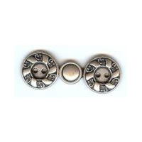 Antique Silver Finish Swirl Design Clasp