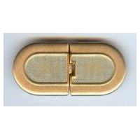 Brushed Matte Gold Finish Long Oval Clasp