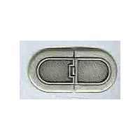 Brushed Antique Silver Finish Long Oval Clasp