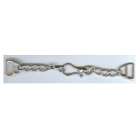 Brushed Antique Silver Chain and Hook Clasp