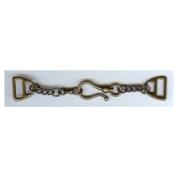 Brushed Antique Brass Chain and Hook Clasp